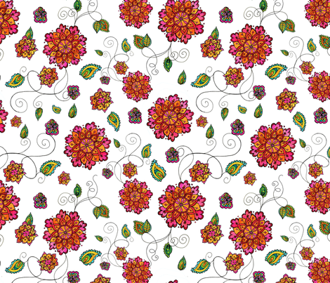flowers2 fabric by jodysart on Spoonflower - custom fabric