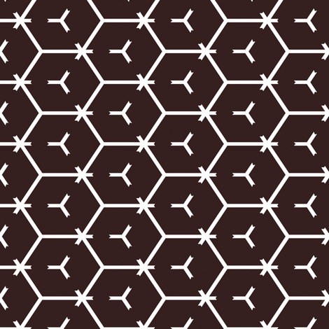 Honeycomb Motif 7 fabric by animotaxis on Spoonflower - custom fabric