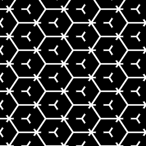 Honeycomb Motif 8 fabric by animotaxis on Spoonflower - custom fabric