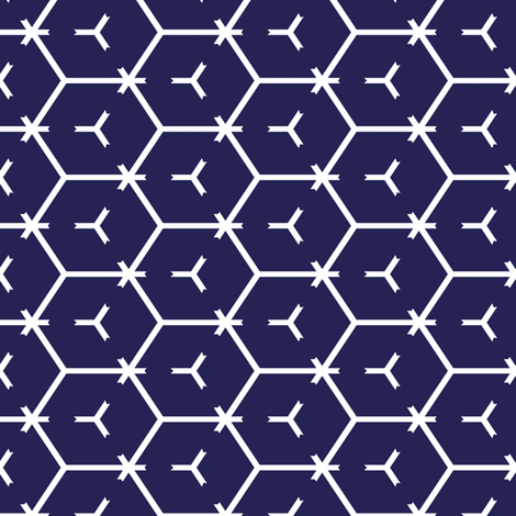 Honeycomb Motif 10 fabric by animotaxis on Spoonflower - custom fabric