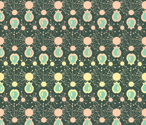 Mod Pom fabric by racheljones on Spoonflower - custom fabric