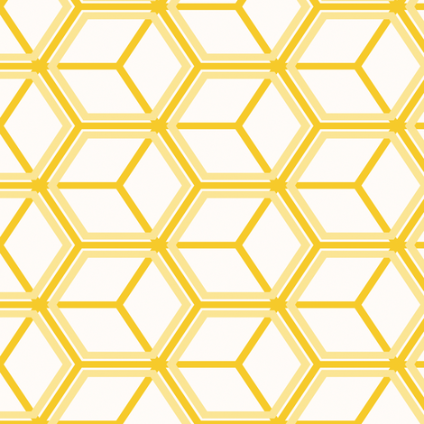 Honeycomb Motif 18 fabric by animotaxis on Spoonflower - custom fabric