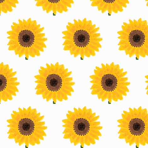 sunflower fabric by suemc on Spoonflower - custom fabric