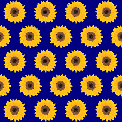 sunflower2 fabric by suemc on Spoonflower - custom fabric