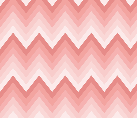 Rose Ombre Chevron fabric by mgterry on Spoonflower - custom fabric