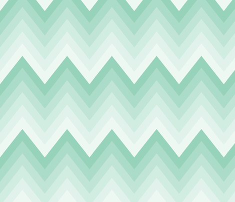 Mint Ombre Chevron fabric by mgterry on Spoonflower - custom fabric