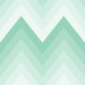 Mint Ombre Chevron