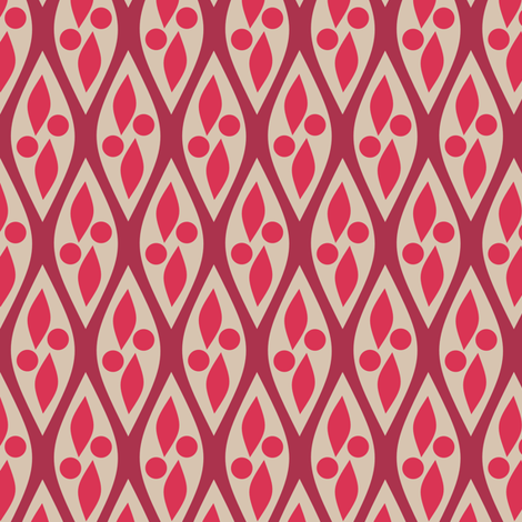 Mod Red and Tan fabric by bojudesigns on Spoonflower - custom fabric