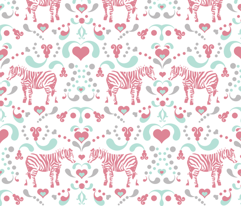 ZEBRAS fabric by honey&fitz on Spoonflower - custom fabric