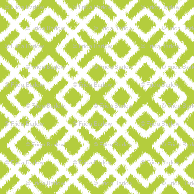 Weave Ikat in Green or Chartreuse