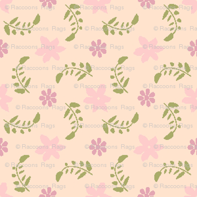 Formal floral cream with pink