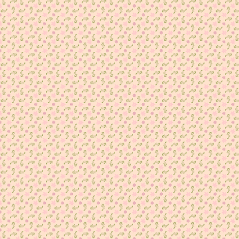 Formal floral cream with pink fabric by raccoons_rags on Spoonflower - custom fabric