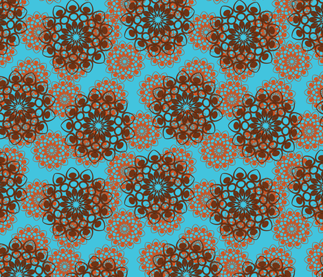 brown and red flowers fabric by suziedesign on Spoonflower - custom fabric