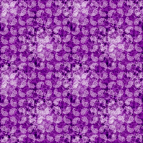 Shabby paisley (purple) fabric by raccoons_rags on Spoonflower - custom fabric