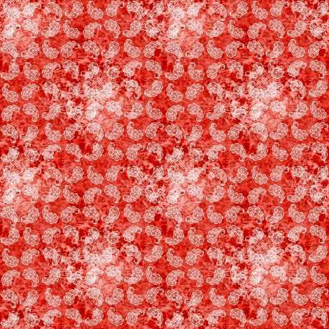Shabby paisley (red) fabric by raccoons_rags on Spoonflower - custom fabric