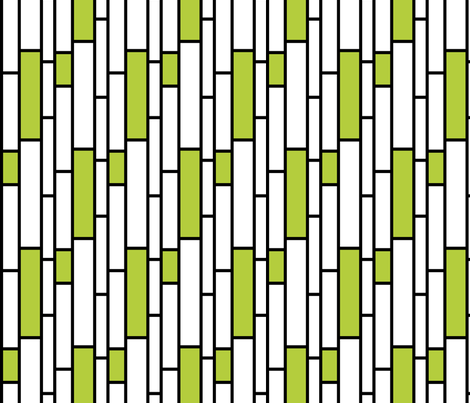 Green Subway fabric by fridabarlow on Spoonflower - custom fabric
