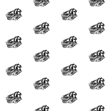 T-Rex Skulls fabric by bohobear on Spoonflower - custom fabric