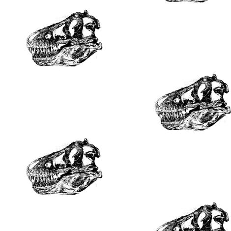 T-Rex Skulls fabric by bohobear on Spoonflower - custom fabric