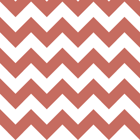 Two Chevrons Make A Right: Red fabric by frontdoor on Spoonflower - custom fabric