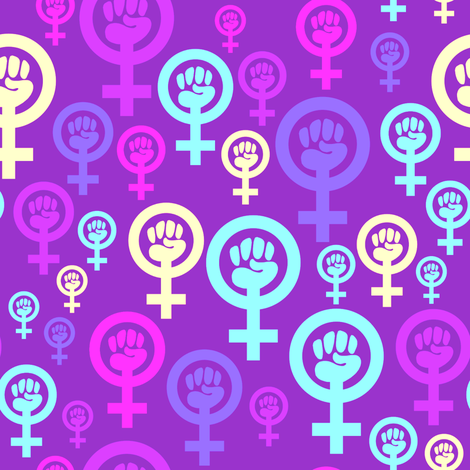 Feminist symbol in purple fabric by spacefem on Spoonflower - custom fabric