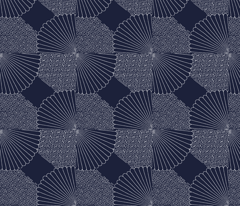 Sashiko blue- fabric by flyingfish on Spoonflower - custom fabric