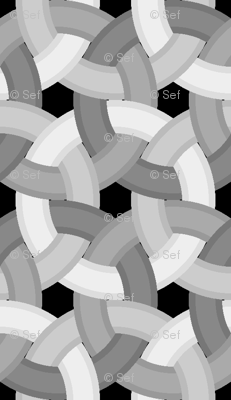 interlocking rings 4 - bevelled