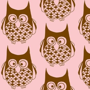 Hootie Cutie Owl Pink Brownie