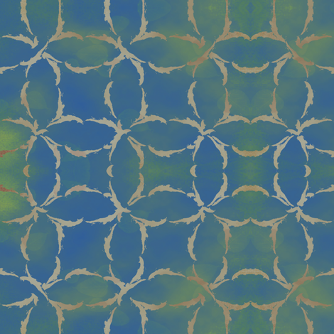 Dyed Circular Lattice in Blue