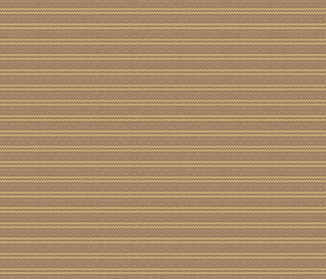 Brown with Wheat Zigzag Stripe © Gingezel™ fabric by gingezel on Spoonflower - custom fabric