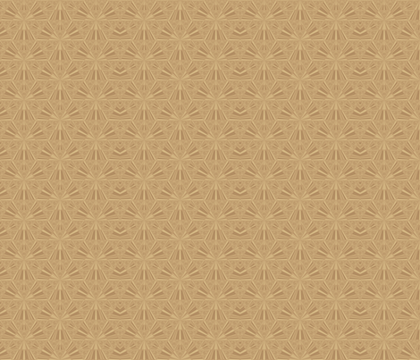 Wheat Sierpinski Fractal © Gingezel™ 2012 fabric by gingezel on Spoonflower - custom fabric