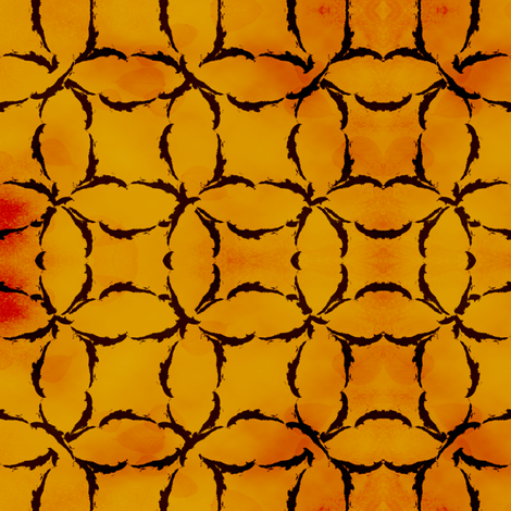 Dyed Circular Lattice in Burnt Orange fabric by fridabarlow on Spoonflower - custom fabric