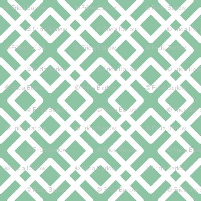Modern Weave in Mint Green / Seafoam