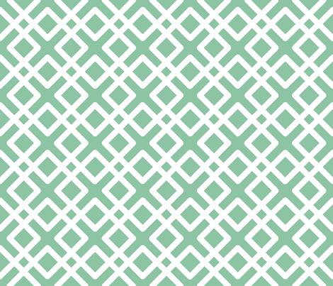 Modern Weave in Mint / Seafoam fabric by fridabarlow on Spoonflower - custom fabric
