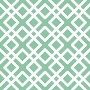 Modern Weave in Mint Green / Seafoam