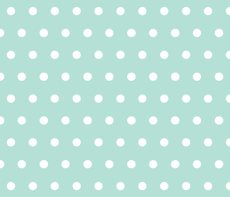 Dot Mint fabric by honey&fitz on Spoonflower - custom fabric