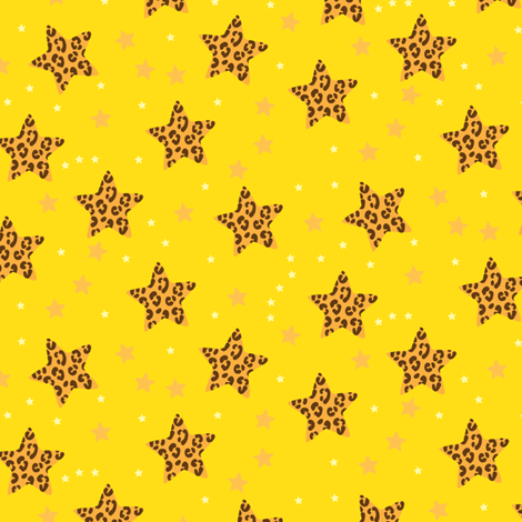 stars_and_spots_yellow fabric by owls on Spoonflower - custom fabric