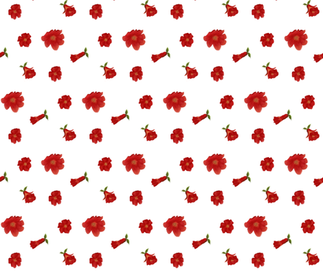 Pomegranate Flower Toss fabric by oceanpien on Spoonflower - custom fabric