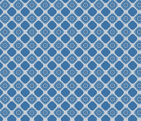 Limestone Hills Old Fashioned Geometric © Gingezel™ 2012 fabric by gingezel on Spoonflower - custom fabric