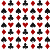 spades, hearts, clover, and diamond