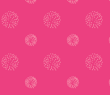 Pomegranate Pom Poms On Pink, ATD 603 fabric by arttreedesigns on Spoonflower - custom fabric