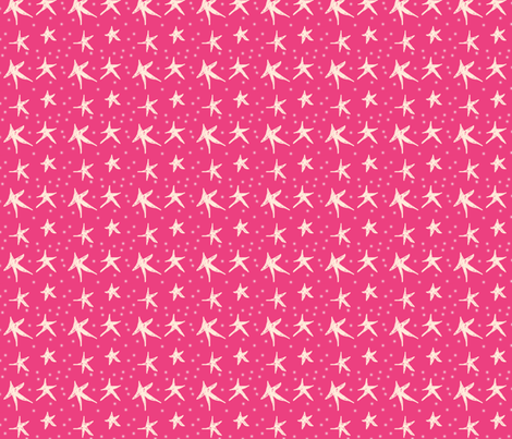 Pomegranate Twinkling Stars, ATD 604 fabric by arttreedesigns on Spoonflower - custom fabric