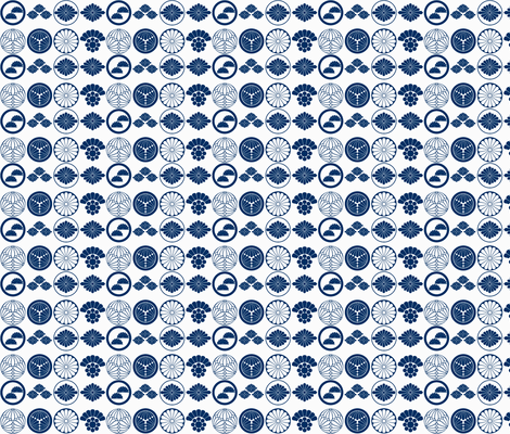 Kikukamon fabric by flyingfish on Spoonflower - custom fabric