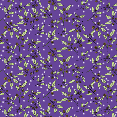 Brazenberries in Starlight - Small Scale. fabric by rhondadesigns on Spoonflower - custom fabric