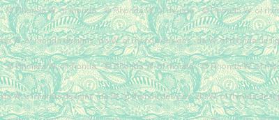 Organic Landscape - Mint on Cream.