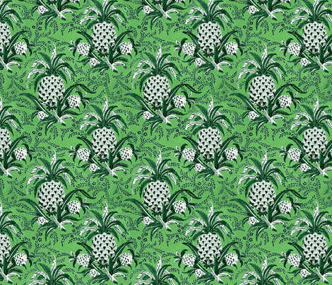 Pineapple Plantation fabric by flyingfish on Spoonflower - custom fabric