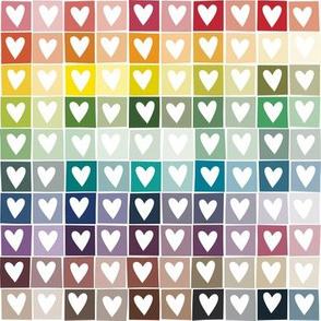 Rainbow Heart Squares