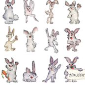 42 Cute Cartoon Rabbits Bunjour