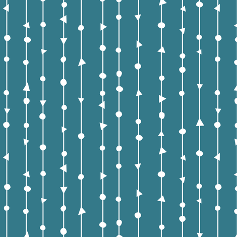 Teal Blue Coordinating Design fabric by gobennygo on Spoonflower - custom fabric
