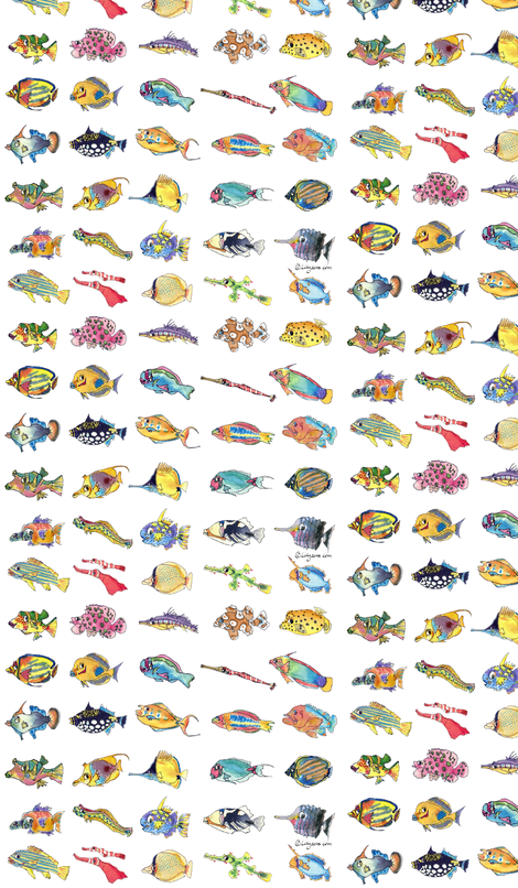 30 Cute Cartoon Tropical Fish