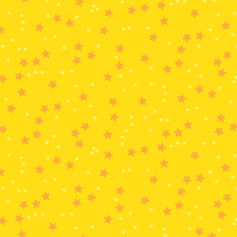 stars_yellow fabric by owls on Spoonflower - custom fabric